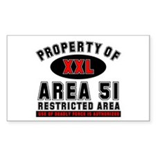Area 51 Rectangle Decal