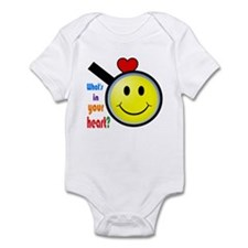 Whats in your heart? Happy Infant Bodysuit