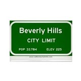 Beverly Hills Rectangle Magnet