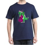 Stegosaurus Playing Double Bass T-shirt