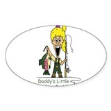 Daddy's Little Fishing Buddy Oval Sticker (10 pk)