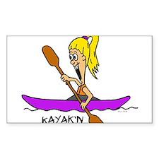Chloe Kayaking Rectangle Decal