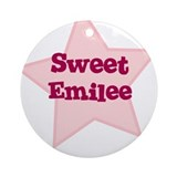 Sweet Emilee Ornament (Round)