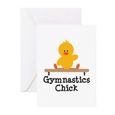 Gymnastics Chick Greeting Cards (Pk of 20)