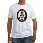 USS Bridge AOE 10 US Navy Ship Fitted T-Shirt