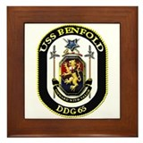 USS Benfold DDG 65 US Navy Ship Framed Tile