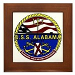 USS Alabama SSBN 731 US Navy Ship Framed Tile