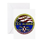 USS Alabama SSBN 731 US Navy Ship Greeting Cards (
