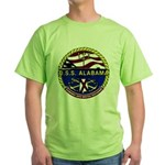 USS Alabama SSBN 731 US Navy Ship Green T-Shirt