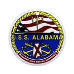 USS Alabama SSBN 731 US Navy Ship Ornament (Round)