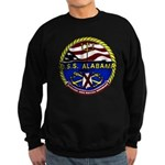 USS Alabama SSBN 731 US Navy Ship Sweatshirt (dark