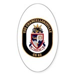 USS Chancellorsville CG 62 US Navy Ship Sticker (O