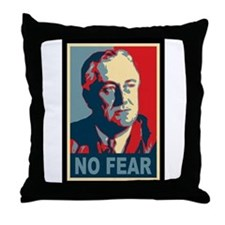 FDR - No Fear Throw Pillow