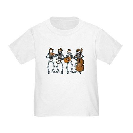 Cowboy Music Skeletons Toddler T-Shirt