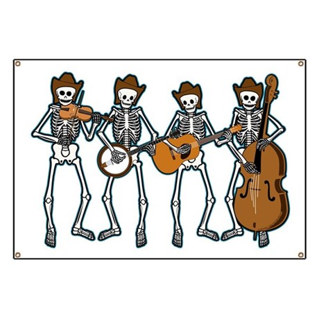 Cowboy Music Skeletons Banner