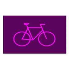 Purple/Pink Bike Rectangle Sticker 10 pk)