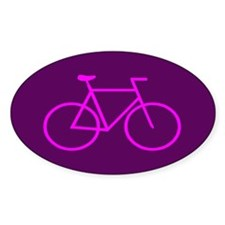 Purple/Pink Bike Oval Sticker (10 pk)