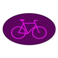 Purple/Pink Bike Oval Decal