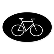 Black/White Bike Oval Decal