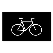 Black/White Bike Rectangle Sticker 10 pk)