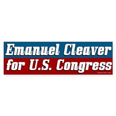 Emanuel Cleaver for Congress bumper sticker