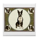Boston Terriers Tile Coaster