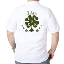Irish Four Leaf Clover Golf Polo Shirt