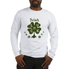 Irish Four Leaf Clover Long Sleeve T-Shirt