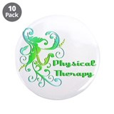 "Scroll Art Design 3.5"" Button (10 pack)"
