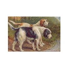 Otterhound Dog Vintage Art Rectangle Magnet