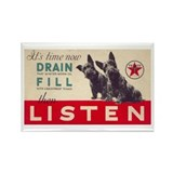 Texaco Dogs Vintage Ad Art Rectangle Magnet