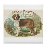 Vintage Saint Bernard Art Tile Coaster
