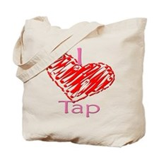 I heart/Love Tap Tote Bag