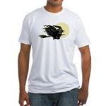 Witch on Broom Fitted T-Shirt