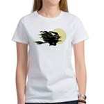 Witch on Broom Women's T-Shirt