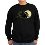 Witch on Broom Sweatshirt (dark)