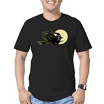 Witch on Broom Men's Fitted T-Shirt (dark)