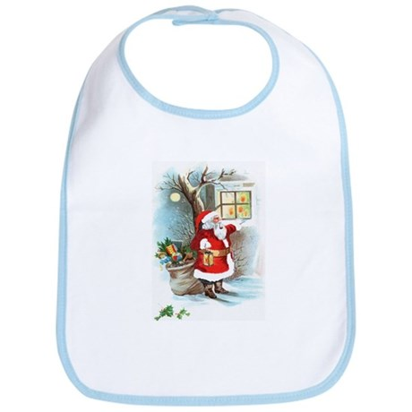 Santa at Window Bib