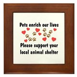 Pets Enrich Framed Tile