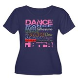 Dance DANCE Dance Women's Plus Size Scoop Neck Dar