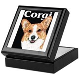 Pembroke Welsh Corgi Black Pop Art Keepsake Box
