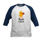 Veggie Chick Kids Baseball Jersey