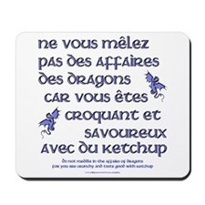 Affairs of French Dragons Mousepad