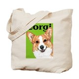 Pembroke Welsh Corgi Green Pop Art Tote Bag