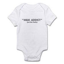 MILK ADDICT, just like Daddy Infant Bodysuit