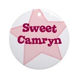 Sweet Camryn Ornament (Round)