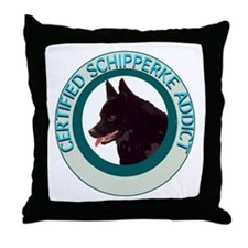 schipperke addict Throw Pillow