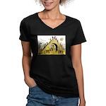 Steps of Freemasonry Women's V-Neck Dark T-Shirt