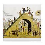 Steps of Freemasonry Tile Coaster