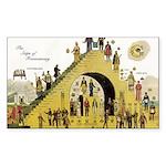 Steps of Freemasonry Rectangle Sticker 10 pk)